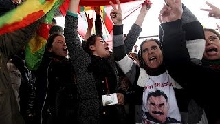 Iraqi Kurds protest against Turkish