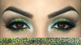 Tutorial make up verde e azzurro / Green and light blue make up tutorial