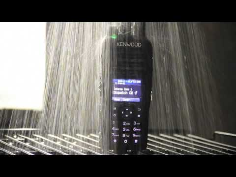 MOVIE: KENWOOD NX 5000 Series Portable Radios – Heavy Rain Test