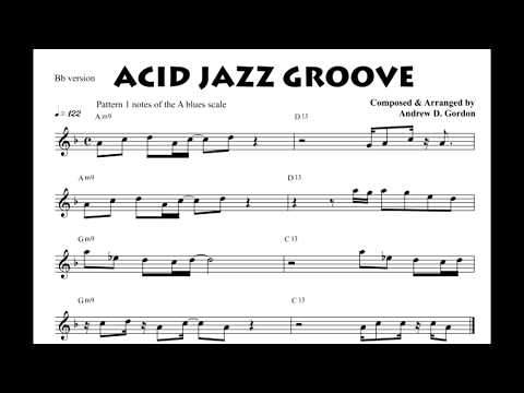 Acid Jazz Sax Groove from the book The Blues Scale for Tenor (Bb) Sax