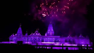 BAPS Swaminarayan Mandir Houston Diwali lights and fireworks 2017