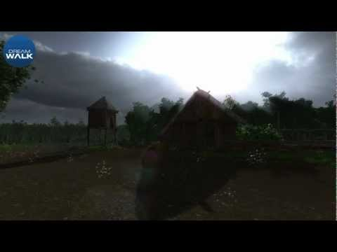 Iron Age House reconstruction - Flood simulation 3D archaeology