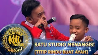Download lagu BIKIN NANGIS SATU STUDIO! Betrand Peto [TITIP RINDU BUAT AYAH] - WildCard KDI (19/8)