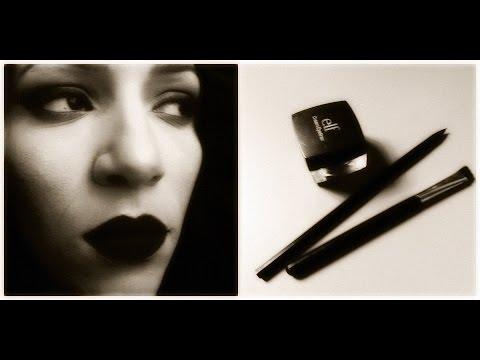 DIY Black Matte Lipstick with Elf Gel Eyeliner - YouTube