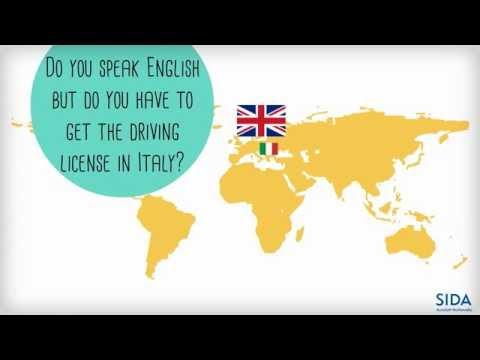 Italian license for English speakers