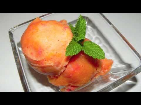 Strawberry Mango Sorbet Recipe Fruity ice cold and delicious