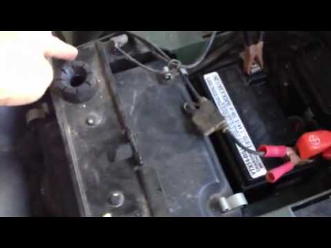 Starter Wiring Diagram Kawasaki 220 Bayou Honda Foreman Atv Battery Compartment Under Seat Youtube