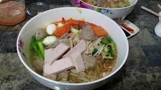 tự làm hoành thánh ăn| making my own wonton soup