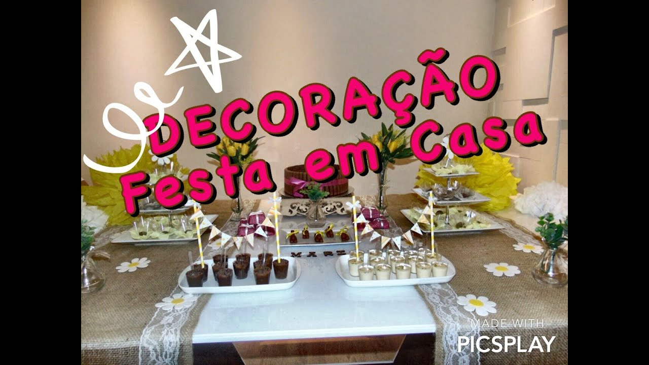 Decoracao Yotube ~ Decoraç u00e3o de Festa em Casa YouTube