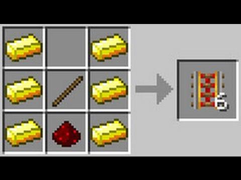 Как создать рельсы в майнкрафт