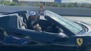 DeAndre Hopkins FLIPS OFF Trump Supporters While Driving His Ferrari To Stadium