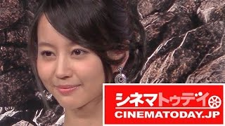 女優の堀北真希が都内で行われた映画『ファンタスティック・フォー』の...