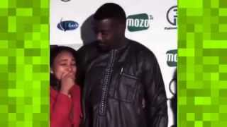 Zambian girl cries after meeting John Dumelo at Double Cross movie premiere