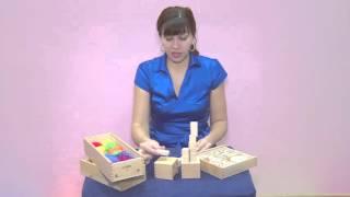 Домашняя Академия Babadu 2 Набор Монтессори (кубики и брусочки)