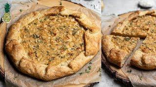 Rustic Caramelized Onion Tart | Vegan & Bomb AF