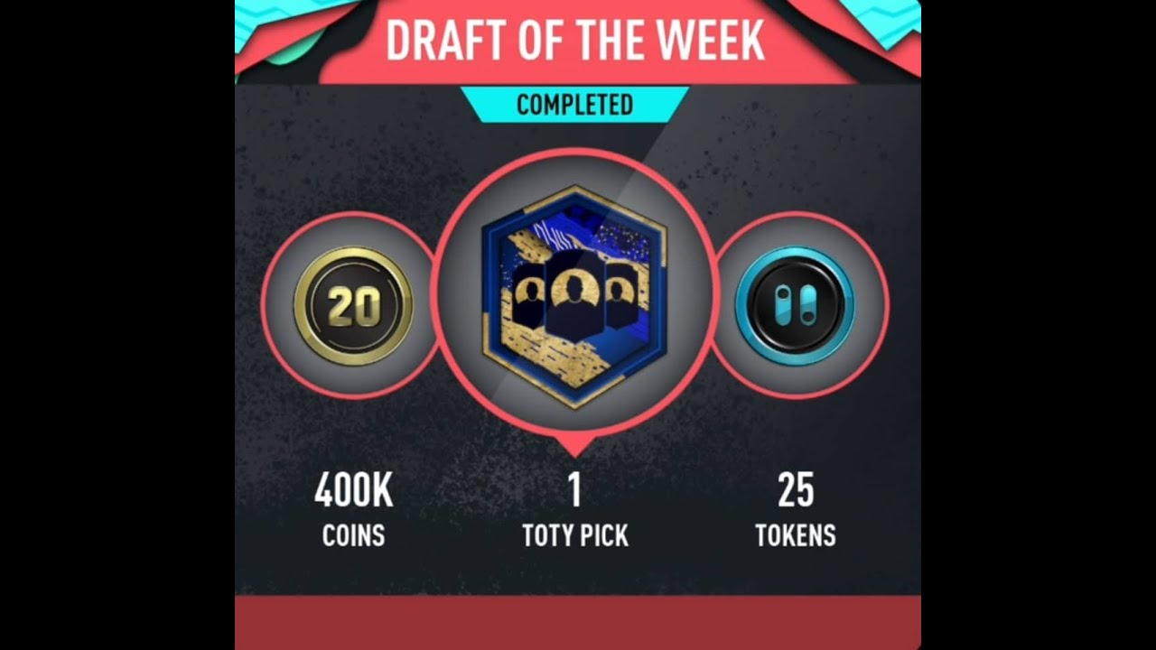 How To Get A Toty Pick In Pacybits Fut 20 Draft Of The Week Solution