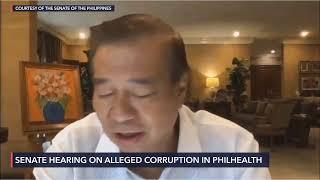 Senate hearing on alleged corruption in Philhealth