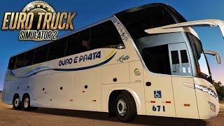 Euro Truck  2 | Mod Bus | Ouro e Prata - Porto Alegre/Santo Angelo - 60fps