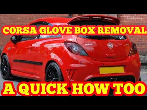 corsa d glove box removal guide how to, vauxhall opal +fuse fuse box  location