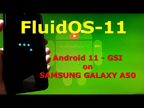 FluidOS-11 Android 11 for Samsung Galaxy A50
