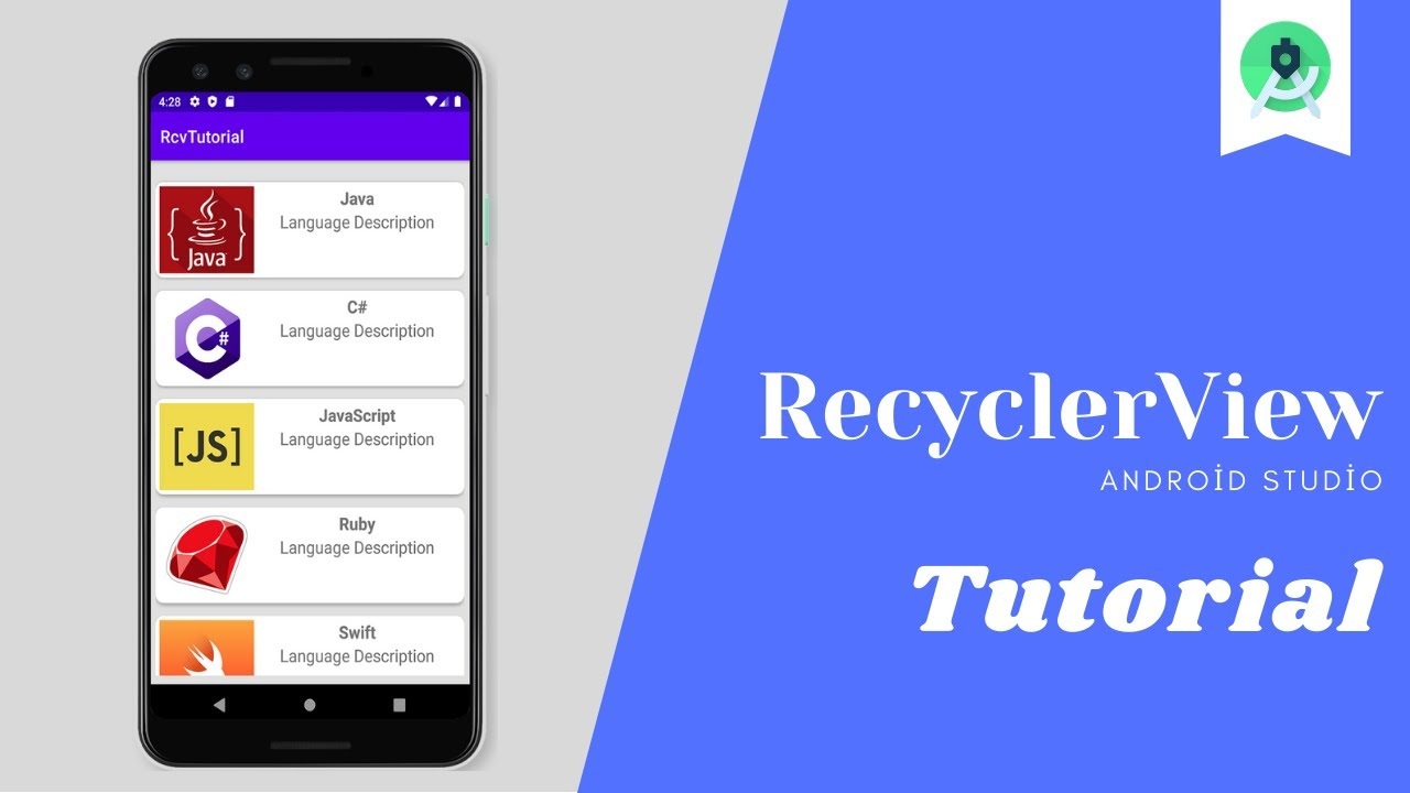 Android Studio Recyclerview Kullanimi Android Recyclerview Tutorial Youtube