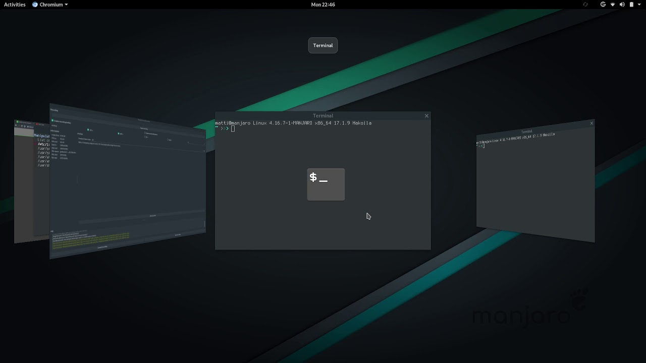 Gnome with gesture-manager