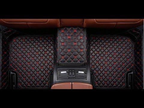 Кожаные 3D коврики для всех марок автомобилей. Кожаные коврики в авто с Алиэкспресс