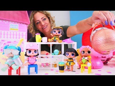 Spielzeug Kindergarten mit Nicole Wir packen LOL Surprise Puppen aus