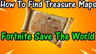 How To Find New Treasure Map In Fortnite Save The World (X Marks the Spot Side Mission)