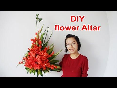Cắm hoa bàn thờ tập 28  LẲNG HOA LAY ƠN ĐỎ   Cắm hoa ngày tết