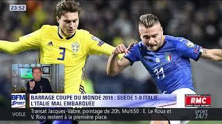 After Foot du vendredi 10/11 – Partie 3/3 - Débrief de Suède/Italie (1-0)