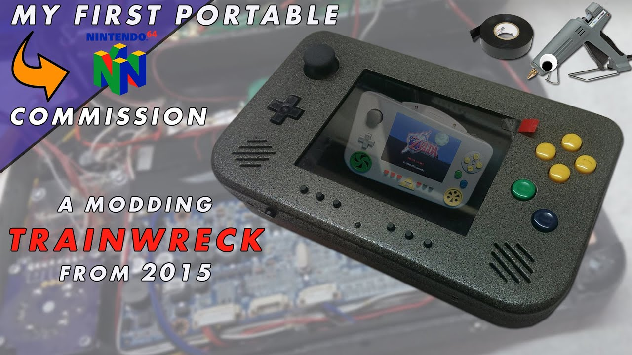 Portable nintendo 64 by downing youtube for Wii u portable mod
