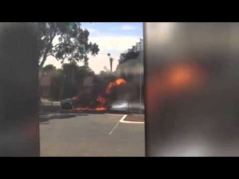 Man burned after car explodes on Adelaide street