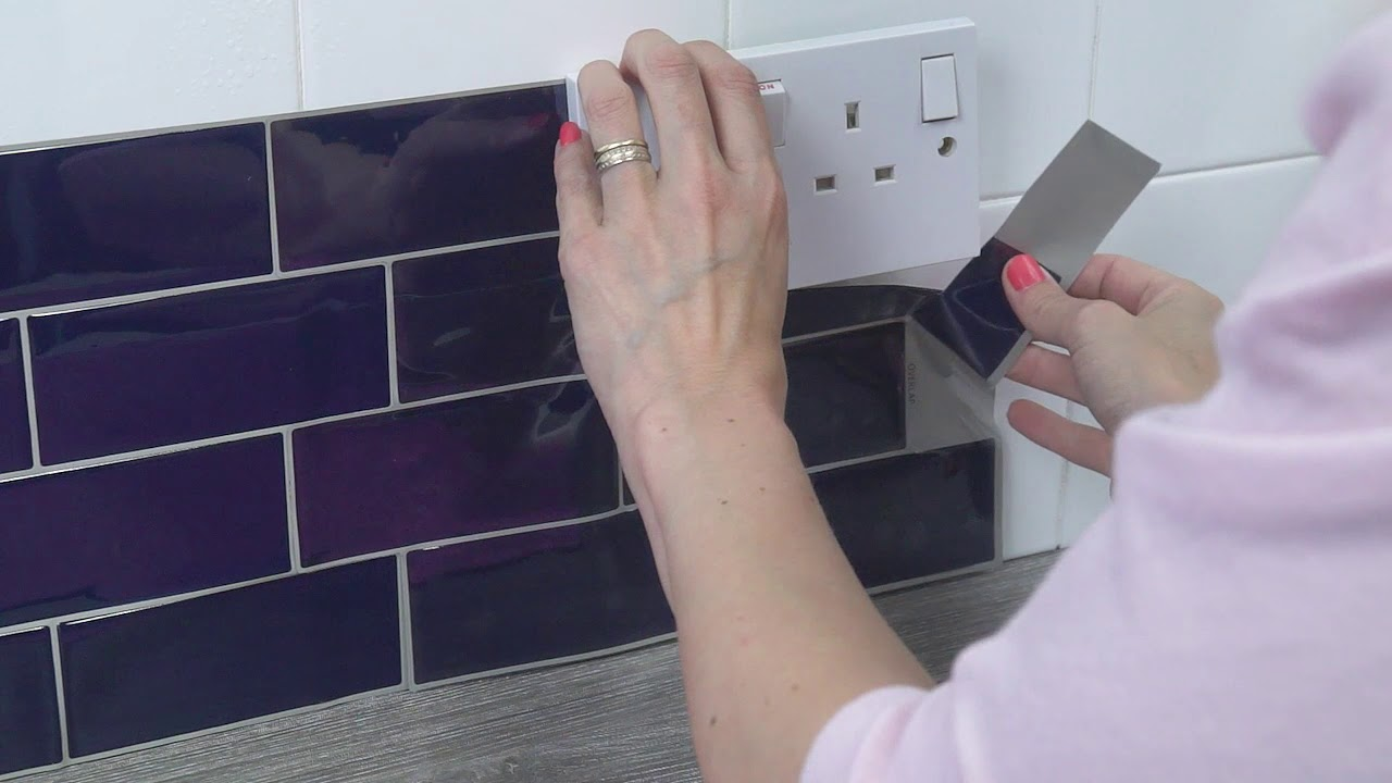 How To Ly Tile Stickers You