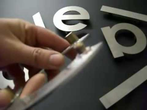 Steel Letter Cutting Flat Cut Metal Letters Fitting Instructions For Brass Locators
