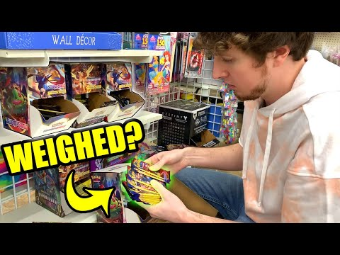 SOMEONE IS WEIGHING POKEMON PACKS AT MY DOLLAR TREE! Opening Pokemon Cards For $1 Each