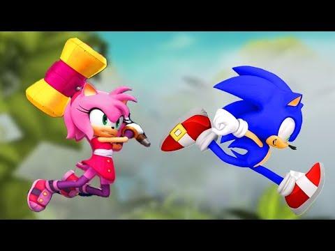 Sonic Dash vs Sonic Boom - Sonic vs Amy