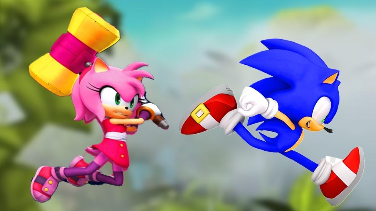 Sonic Dash Vs Sonic Boom Sonic Vs Amy Youtube
