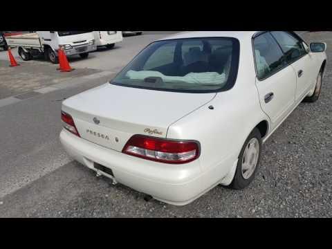 Видео-тест автомобиля Nissan Presea (белый, GA15DE, 2000г., R11-201588)