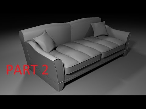 Sofa Modeling Maya 2018 ( Part 2 ) FOR BEGINNERS!