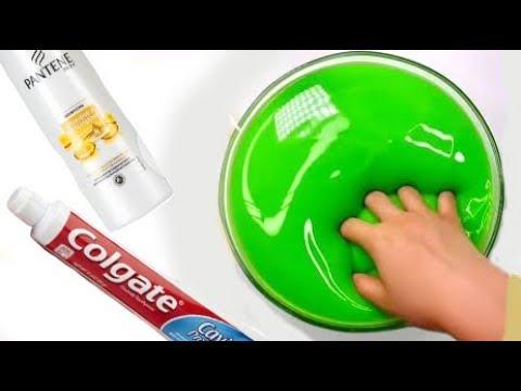 4 Лизуна из шампуня,зубной пасты Слайм без клея и с клеем