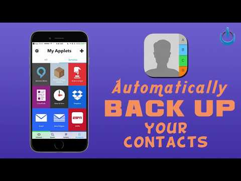Automatically Back Up Your Contacts - iOS or Android