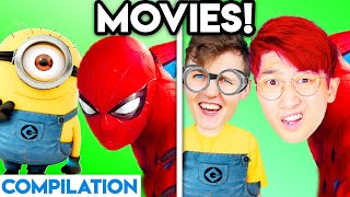 MOVIES WITH ZERO BUDGET! (Spiderman, Guardians of the Galaxy, Monsters Inc, Incredibles, Spongebob)