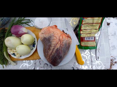 КУЫРДАК В КАЗАНЕ НА КОСТРЕ (Казахская кухня) рецепт с говяжьего Сердца (ENG SUB)
