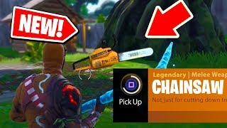 NEW! How to get the CHAINSAW in Fortnite: Battle Royale *NEW* Easter egg in FORTNITE!
