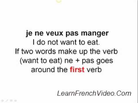 French Negative Sentences - Negation - YouTube