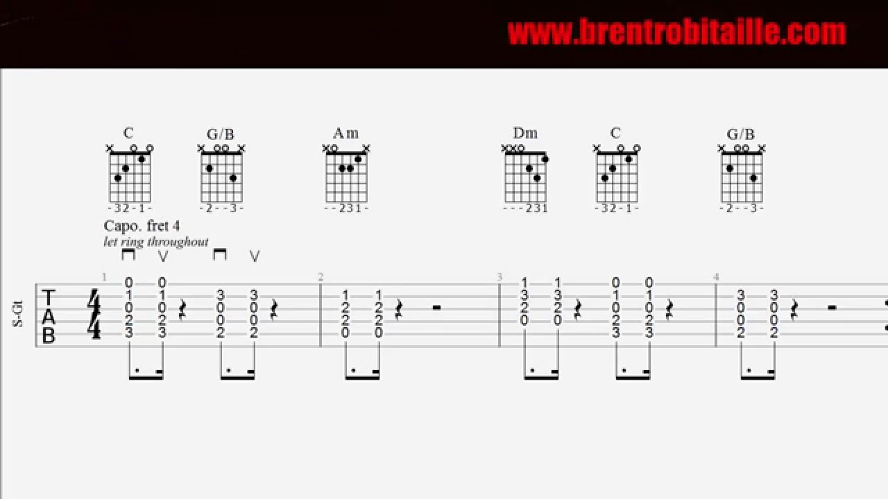 Guitar Tab - Chords - Love Yourself - Easy Guitar - YouTube