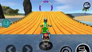 Motocross Beach Race Jumping 3D #Dirt Motor Cycle Racer Games Part 11