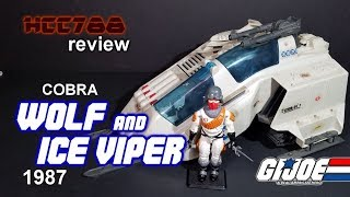 HCC788 - 1987 Cobra WOLF and ICE VIPER - Vintage G.I. Joe toy review!