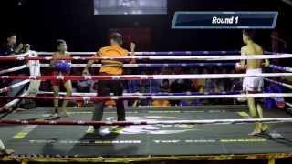 Jumping teep knockdown! Pro Muay Thai | Firdaus Kuda Putih vs Syahrul Muaythai Heritage